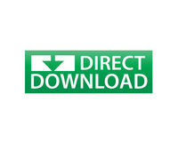 Diriga il segno di download Immagine Stock