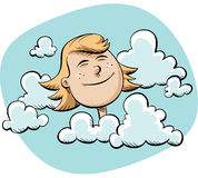 Diriga nelle nubi Fotografia Stock