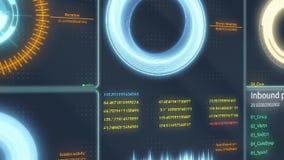 Dirige l'interfaccia dell'esposizione infographic Vario Infographics animato traccia una carta di come esposizione agile di HUD,  illustrazione di stock