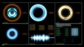 Dirige l'interfaccia dell'esposizione infographic Vario Infographics animato traccia una carta di come esposizione agile di HUD,  illustrazione vettoriale