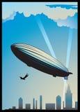 Dirigeable zeppelin stock illustratie