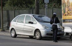 Dirigeant de Polizia Municipale d'Italien photographie stock