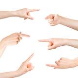 Dirigeant des doigts réglés Photo stock