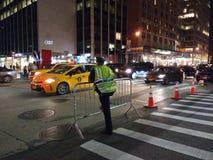 Dirigeant du trafic de NYPD, NYC, NY, Etats-Unis Images stock