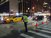 Dirigeant du trafic, NYPD, NYC, NY, Etats-Unis Photos libres de droits
