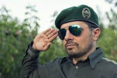 Dirigeant européen dans un béret vert image libre de droits
