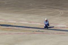 Dirigeant moulu d'aéroport international de Kansai Images libres de droits