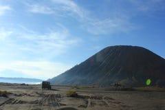 Dirigendosi al vulcano Fotografia Stock