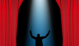 Dirigent theater Stock Photography