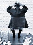 Dirigente guastato e sollecitato Fotografia Stock