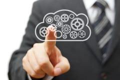 Dirigere la vostra azienda in nuvola Fotografie Stock Libere da Diritti