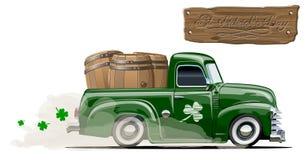 Dirigez collecte de bière de bande dessinée du ` s de St Patrick la rétro Image libre de droits