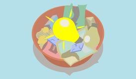 Dirigez dépeindre le concept du meilleur hors des déchets Photo libre de droits