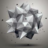 Dirigez 3d l'abstraction numérique, eleme polygonal géométrique de trellis Image stock