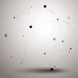 Dirigez 3d l'abstraction numérique, eleme polygonal géométrique de trellis Images libres de droits