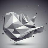Dirigez 3d l'abstraction numérique, templ polygonal géométrique de trellis Photographie stock libre de droits