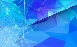 Dirigez 3D l'illustration géométrique, polygone avec la structure de molécule Illustration de Vecteur