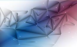 Dirigez 3D l'illustration géométrique, polygone avec la structure de molécule Illustration Stock