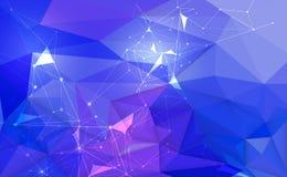 Dirigez 3D l'illustration géométrique, polygone avec la structure de molécule Illustration Libre de Droits