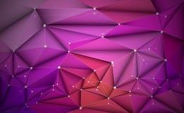 Dirigez 3D l'illustration géométrique, polygone avec le structur de molécule Illustration Stock