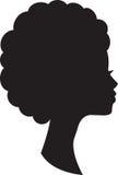 Dirigez dans le profil de la femme africaine sur le fond blanc photo libre de droits