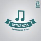Dirigez l'élément, le label, l'insigne et la silhouette de logotype pour la boutique de musique Photos stock