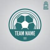 Dirigez l'élément, le label, l'insigne et la silhouette de logotype pour le football ou le football Photo stock