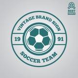 Dirigez l'élément, le label, l'insigne et la silhouette de logotype pour le football ou le football Photographie stock