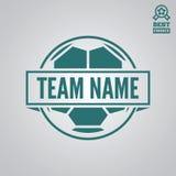 Dirigez l'élément, le label, l'insigne et la silhouette de logotype pour le football ou le football Photos stock