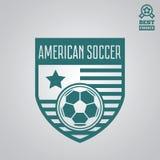 Dirigez l'élément, le label, l'insigne et la silhouette de logotype pour le football ou le football illustration de vecteur
