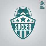 Dirigez l'élément, le label, l'insigne et la silhouette de logotype pour le football ou le football illustration libre de droits