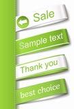 Dirigez l'étiquette d'étiquette de tissu Image libre de droits