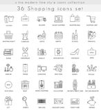 Dirigez l'achat ligne ultra moderne icônes d'ensemble pour le Web et les apps Images stock