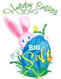 Dirigez l'affiche verticale en vente pour les vacances de Pâques Photographie stock libre de droits