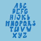 Dirigez l'alphabet latin fait de caramel, liquide Style de police illustration stock