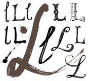 Dirigez les lettres de l'alphabet écrit avec un brus Illustration Stock
