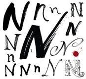 Dirigez les lettres de l'alphabet écrit avec un brus Illustration Libre de Droits