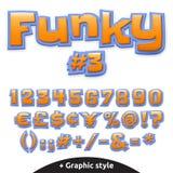 Dirigez l'alphabet mignon pour des enfants dans le style de bande dessinée Illustration Stock
