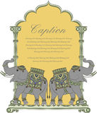 Dirigez l'art de l'éléphant royal dans le style indien d'art Images stock