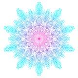 Dirigez l'art ethnique inspiré par mandala ornemental, Indien modelé illustration de vecteur