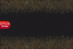 Dirigez l'effet de fond de particules de scintillement pour la carte de luxe de riches de salutation Texture de scintillement La  illustration libre de droits