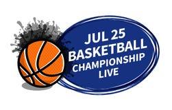 Dirigez l'endroit de fond de projecteur de tableau indicateur de sport de basket-ball pour l'annonce des textes de copie Bannière illustration stock