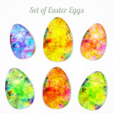 Dirigez l'ensemble moderne d'oeufs lumineux heureux de Pâques pour Photo libre de droits