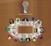Dirigez l'homme d'affaires se réunit pour faire un brainstorm Image libre de droits