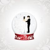 Dirigez l'illistration d'un couple affectueux Image libre de droits