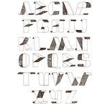 Dirigez l'illustration avec des lettres de police de trappe d'A à Z Photographie stock