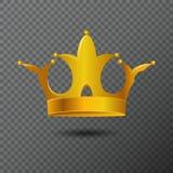 Dirigez l'illustration avec l'icône d'or de couronne sur le fond Diadème de redevance de volume créé par gradient Image libre de droits