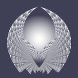Dirigez l'illustration avec la future structure lumineuse abstraite de technologie Photographie stock