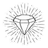 Dirigez l'illustration avec un diamant et les rayons divergents sur le tableau noir Utilisé pour l'affiche, bannière, Web, copie  Photographie stock libre de droits