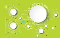 Dirigez l'illustration colorée et la roue de vitesse sur la carte illustration libre de droits